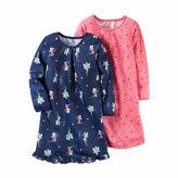Carter's 2-pk. Navy Fairies Long-Sleeve Gowns - Toddler Girls 2t-5t