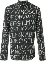 Love Moschino letter print shirt - men - Cotton/Spandex/Elastane - S