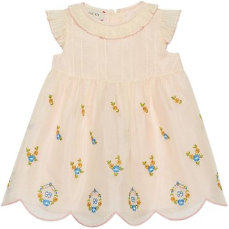 Gucci Baby silk cotton organza dress with embroidery