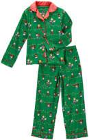 Komar Kids Peanuts Green & Red Pajama Set - Girls