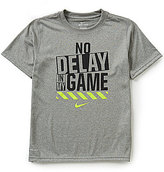 Nike Big Boys 8-20 No Delay In My Game Graphic Tee