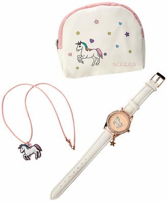 Tikkers Girl's Analogue Quartz Watch with PU Strap ATK1063
