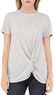 Bobeau B Collection By B Collection by Rachelle Twist-Front Tee