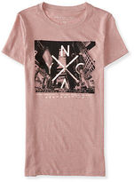 Aeropostale Womens Nyc Skyscrapers Graphic T Shirt Pink