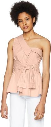 ASTR the Label Women's Sammie ONE Shoulder TIE Front Fashion TOP