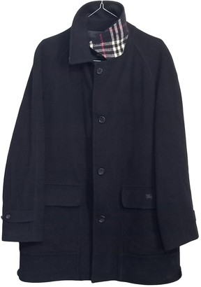 Burberry Blue Wool Coats