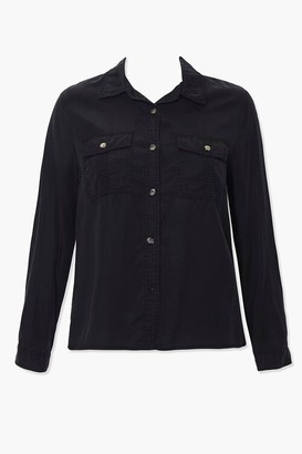 Forever 21 Plus Size Chambray Pocket Shirt