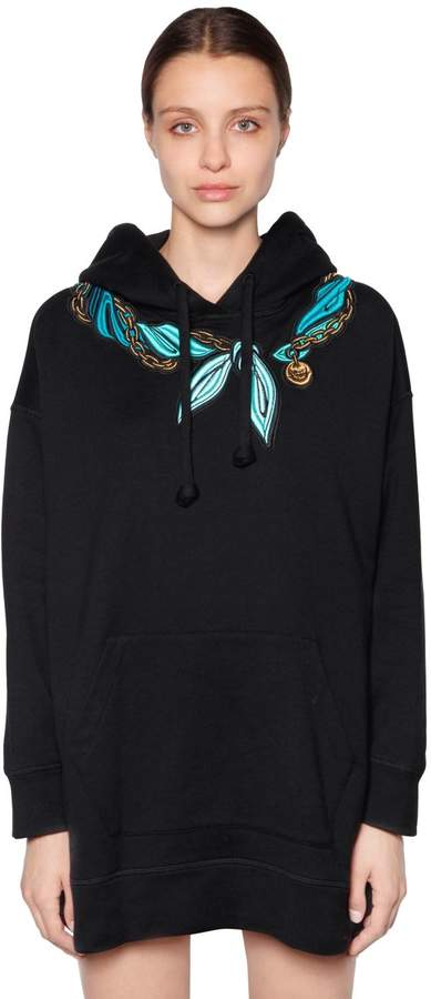 Marco De Vincenzo Embroidered Hooded Cotton Sweatshirt