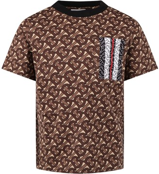 Burberry Beige T-shirt For Boy With Logos