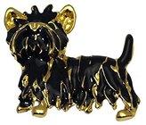 AJ Fashion Jewellery MACKENZIE Gold Plated Scotty Dog Brooch