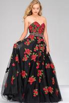 Jovani Sweetheart Neck Long Floral Prom Dress 45741