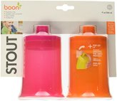 Boon Stout Transitional Cup, Pink/Orange, 9 Ounce, 2-Count (Discontinued by Manufacturer)