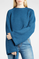 Ellery Tie-Sleeve Ribbed Jumper