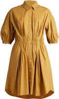 Sonia Rykiel Curved-hem stretch cotton-poplin shirtdress