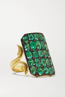 Sylva & Cie 18-karat Gold Emerald Ring
