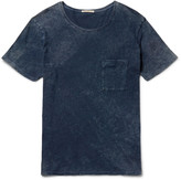 Nudie Jeans - Ove Marbled Indigo-dyed Organic Cotton-jersey T-shirt