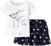 Kate Spade Sandpiper Tee and Skirt (Baby) - White/Polka Dot - 12 Months