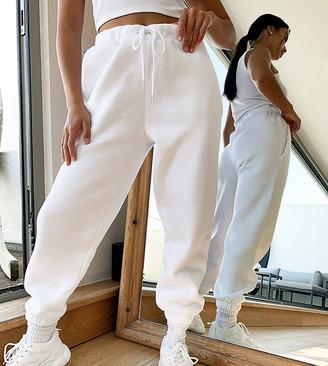 ASOS DESIGN Petite oversized jogger in white