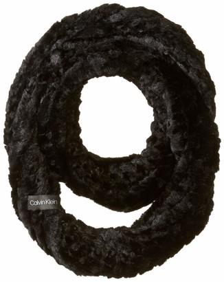 Calvin Klein Women's Knit Fur Infinity Scarf