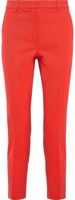 Emilio Pucci Cropped Silk-twill Slim-leg Pants