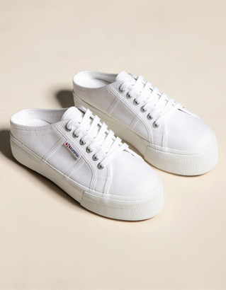 Superga 2284 Womens Platform Mule Shoes