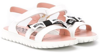 MOSCHINO BAMBINO Logo Bow Sandals