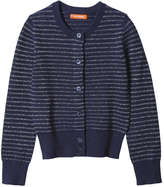 Joe Fresh Toddler Girls' Stripe Sparkle Cardi, Navy (Size 3)