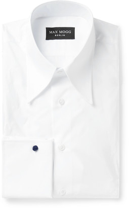 Maximilian Mogg Double-Cuff Cotton-Zephyr Shirt