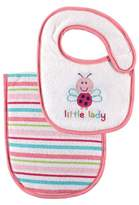 Luvable Friends Baby Bib and Burp Cloth Set