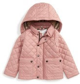 Burberry Infant Girl's Jamie Quilted Hooded Puffer Jacket