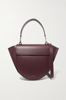 Wandler Hortensia Leather Shoulder Bag - Burgundy