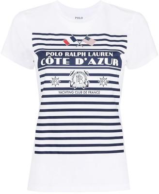 Polo Ralph Lauren Striped-Logo Print T-Shirt
