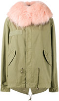 Mr & Mrs Italy - racoon fur hood unlined parka jacket - women - Cotton/Polyester/Racoon Fur - XS