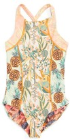 Maaji Girl's Hello Cactus Reversible One-Piece Swimsuit