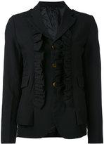 Comme des Garcons ruffle appliqué blazer - women - polyester - M