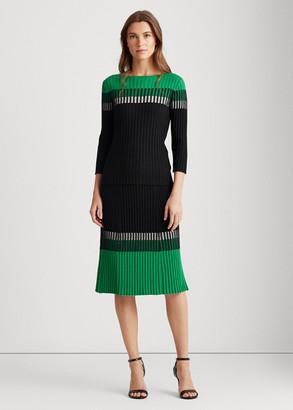 Ralph Lauren Three-Tone Ribbed Skirt