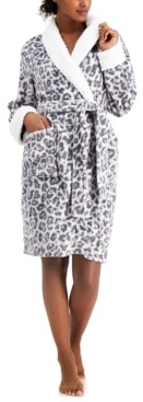 Charter Club Short Printed Cozy Robe, Created for Macy's