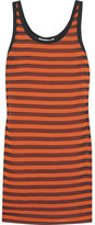 Givenchy Striped Stretch-silk Mini Dress - Orange