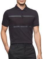 Calvin Klein Jacquard Cotton Knit Polo