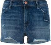 J Brand frayed denim shorts - women - Cotton/Polyurethane - 27