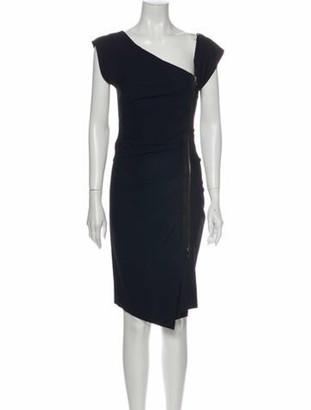 Veronica Beard V-Neck Knee-Length Dress Blue