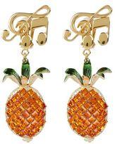Dolce & Gabbana Pineapple Drop Clip-On Earrings