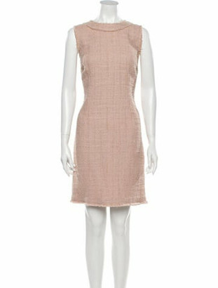 Dolce & Gabbana Crew Neck Mini Dress Pink
