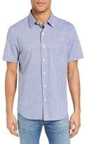 Jack Spade Men's Stripe Short Sleeve Sport Shirt