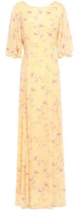 By Ti Mo Ruffled Floral-print Fil Coupe Woven Maxi Dress