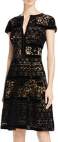 Tadashi Shoji Cap Sleeve Velvet Fit-and-Flare Dress
