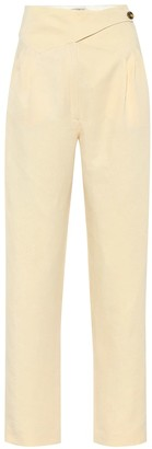 Blazã© Milano Basque linen and silk high-rise pants