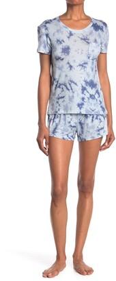 Wallflower Tie Dye 2-Piece T-Shirt & Shorts Pajama Set