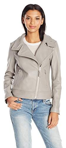 Mackage Women's Lisa Classic Moto Jacket in Pebbled Leather