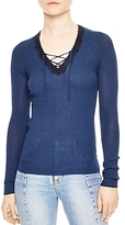 Sandro Gibson Lace-Up Sweater